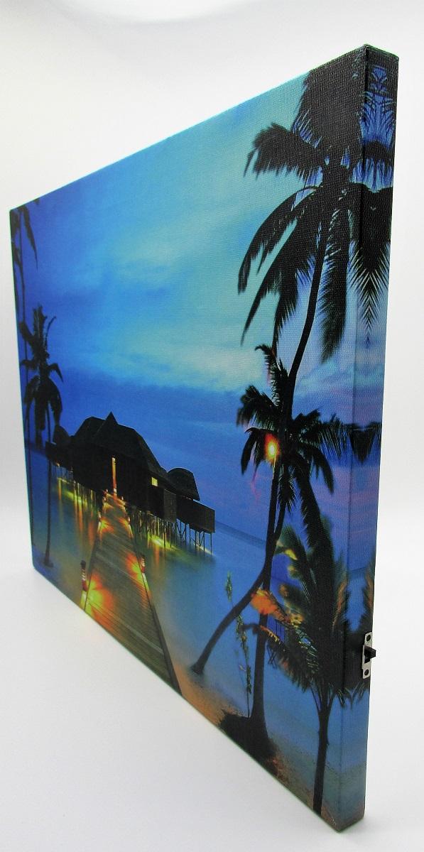 3 wandbilder led beleuchtet urlaub strand meer je 40 x 30 cm batteriebetrieben ebay. Black Bedroom Furniture Sets. Home Design Ideas