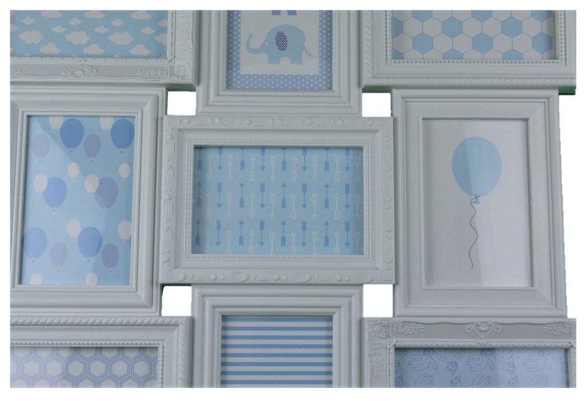 bilder collage 69 cm x 52 cm mit 12 verschiedenen bilderrahmen wei rechteckig ebay. Black Bedroom Furniture Sets. Home Design Ideas