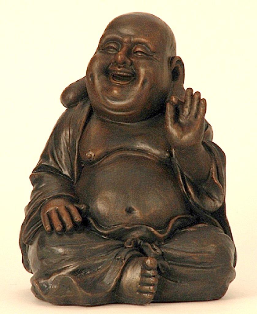 2x buddha figur in schwarz gold je 15cm sitzend 2 verschiedene motive ebay. Black Bedroom Furniture Sets. Home Design Ideas