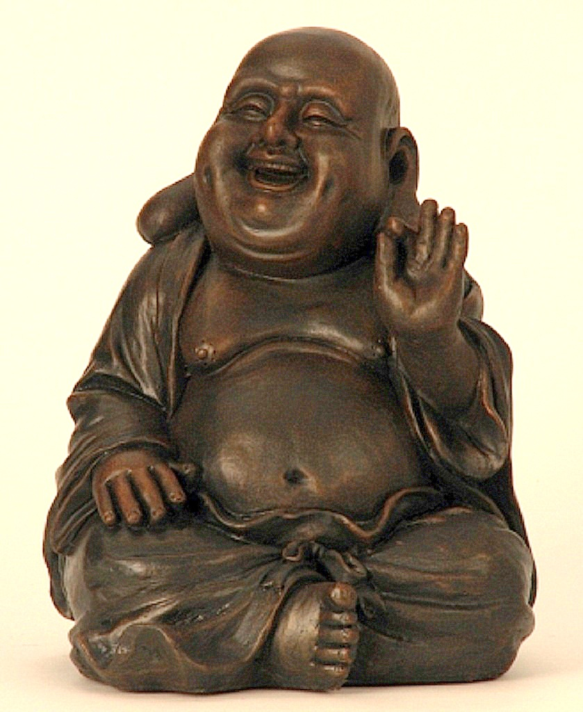 Buddha dunkelbraun sitzt 31cm gro e figur feng shui asia for Buddha figur