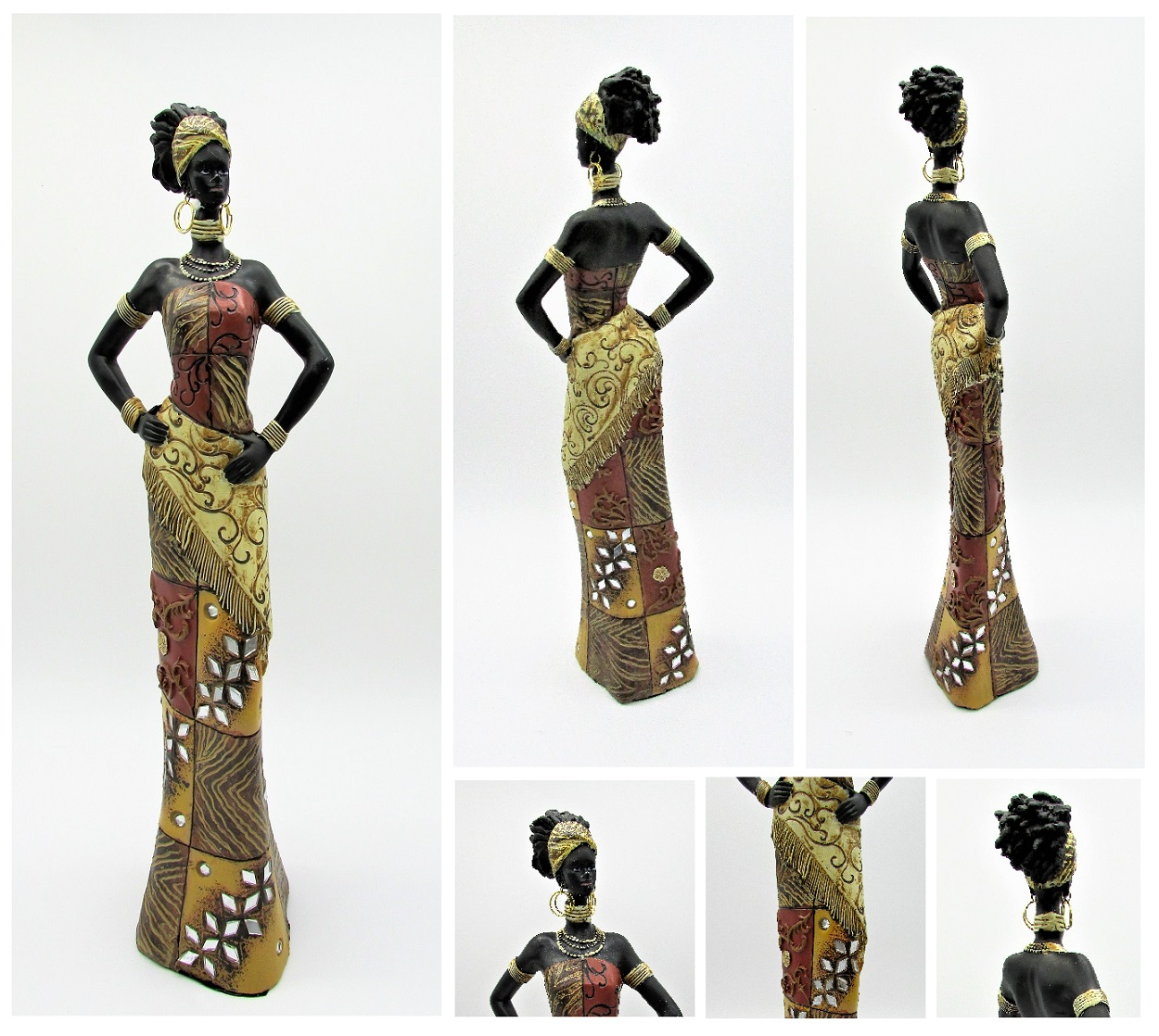 afrikanerin 35 cm figur afrikanische frau massai afrika deko ebay. Black Bedroom Furniture Sets. Home Design Ideas