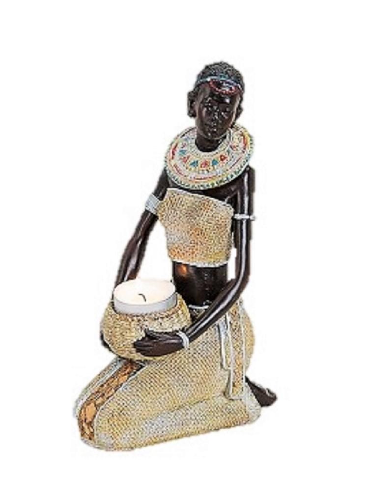 gro e figur afrikanische frau mit wasserkrug 23 cm hoch afrika frauen figuren ebay. Black Bedroom Furniture Sets. Home Design Ideas