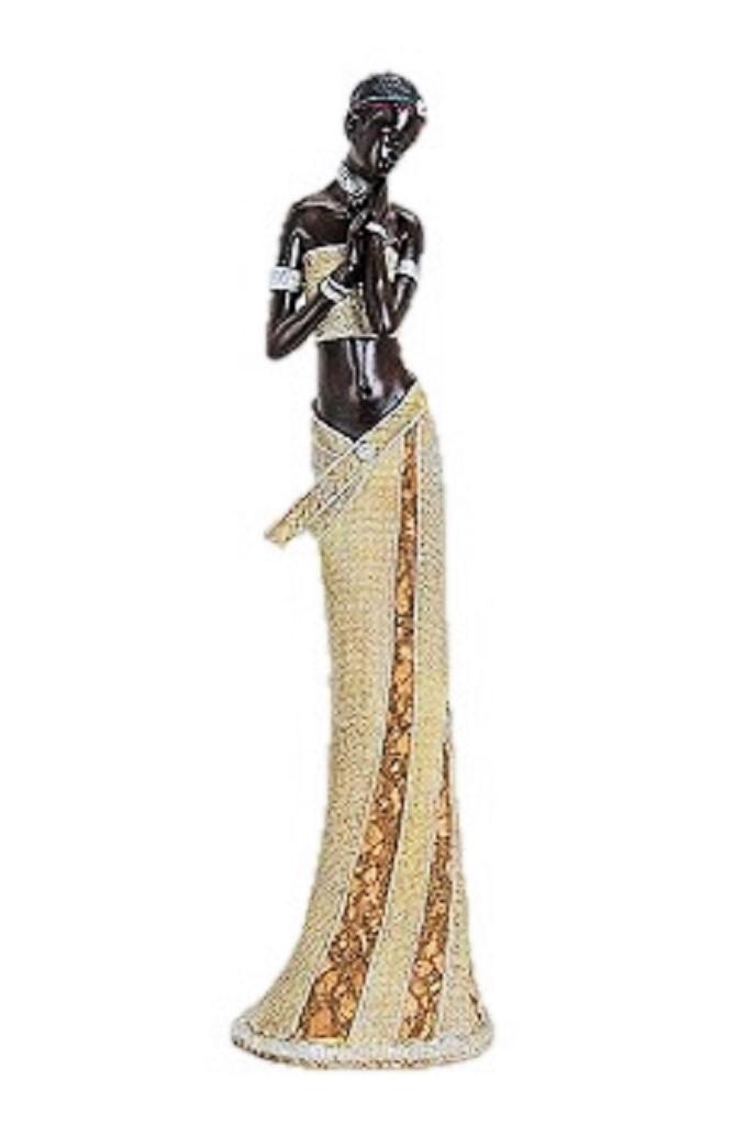 Sch ne afrikanerin 42cm massai frauen figur afrika kultur for Schoene deko