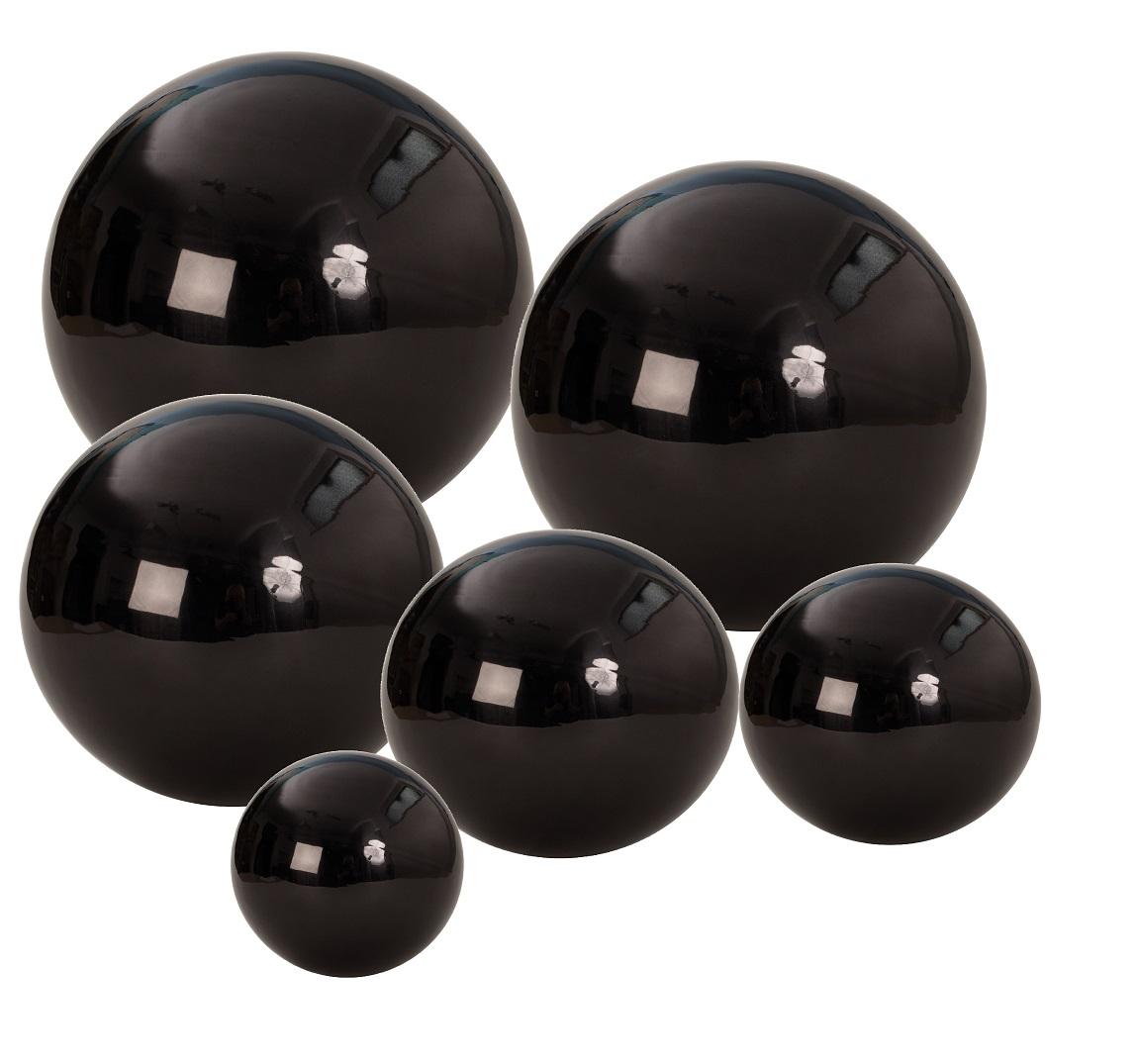 Dekokugel aus edelstahl ca 15cm gro schwarz kugel for Weihnachtsdeko schwarz