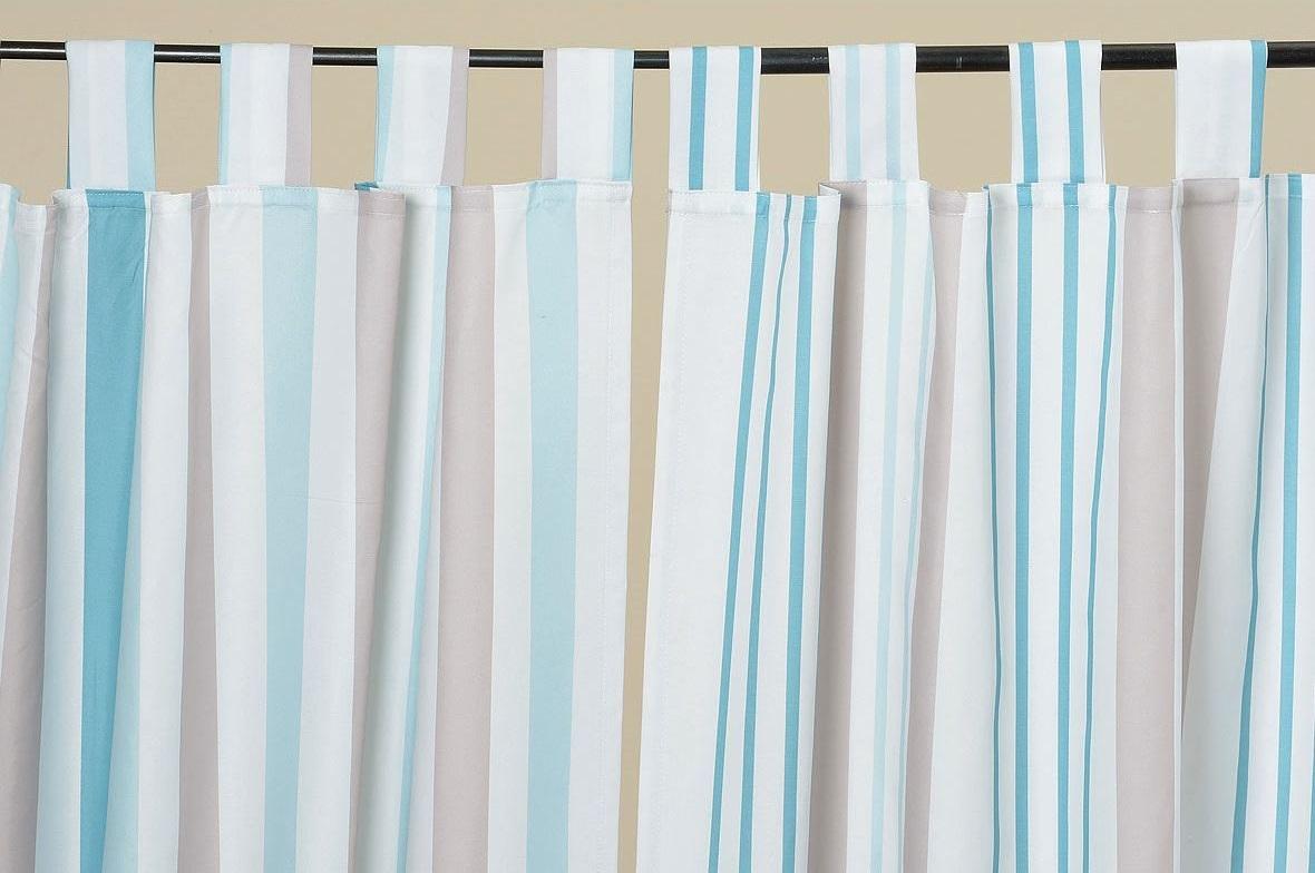2 st ck schmale streifen schlaufenschal vorhang gardine schal 250 x 140 cm. Black Bedroom Furniture Sets. Home Design Ideas