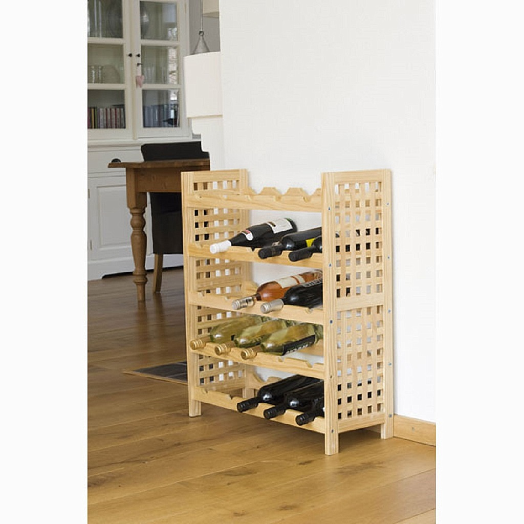 weinregal f r 25 flaschen regal aus holz 64 cm x 76 cm x 25 cm wein holzregal ebay. Black Bedroom Furniture Sets. Home Design Ideas