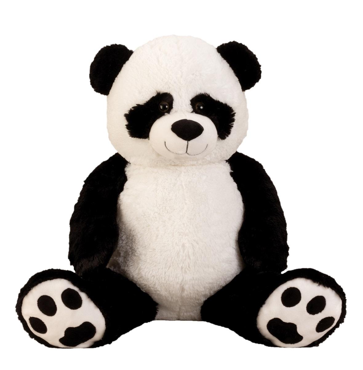 xxl panda b r teddyb r 1m riesen gro kuscheltier 100 cm teddy pandab r ebay. Black Bedroom Furniture Sets. Home Design Ideas