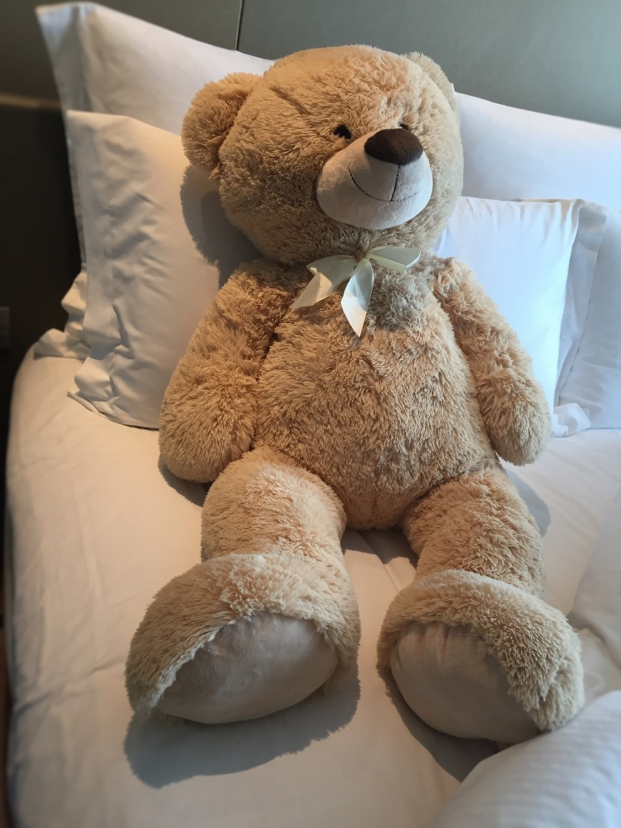 xxl teddyb r b r 1m gro in hellbraun kuscheltier teddy ebay. Black Bedroom Furniture Sets. Home Design Ideas