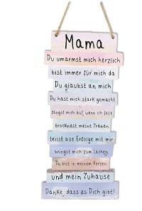 Mama Danke Schild mit Sprüchen 15 x 32 cm zum Hängen