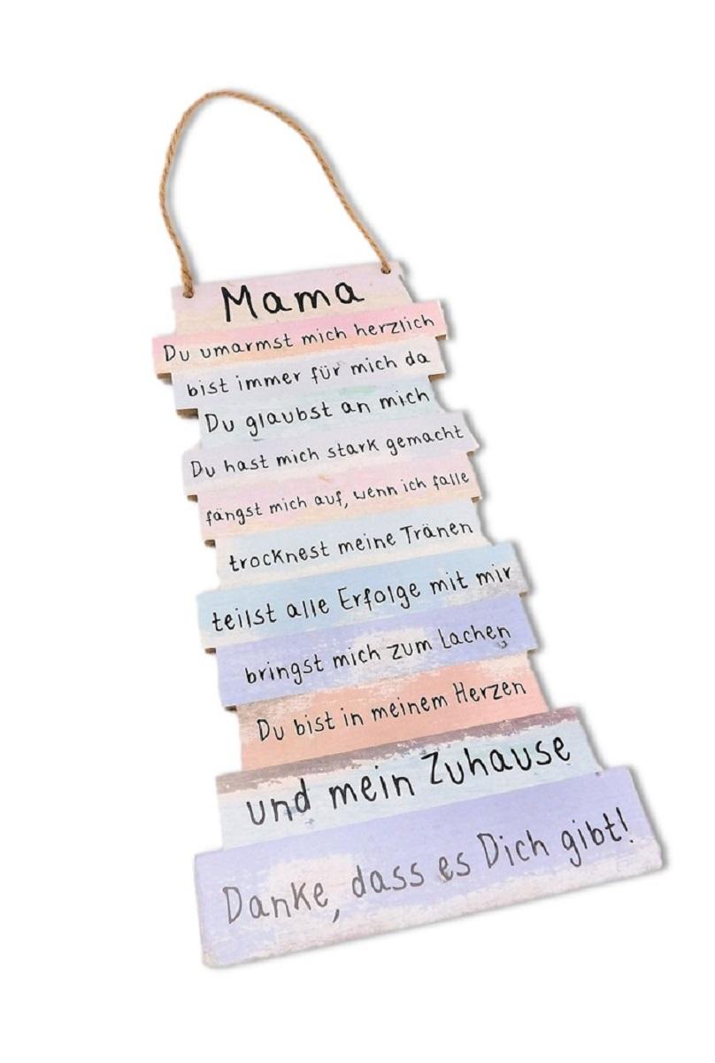Mama Danke Schild Mit Spruchen 15 X 32 Cm Zum Hangen