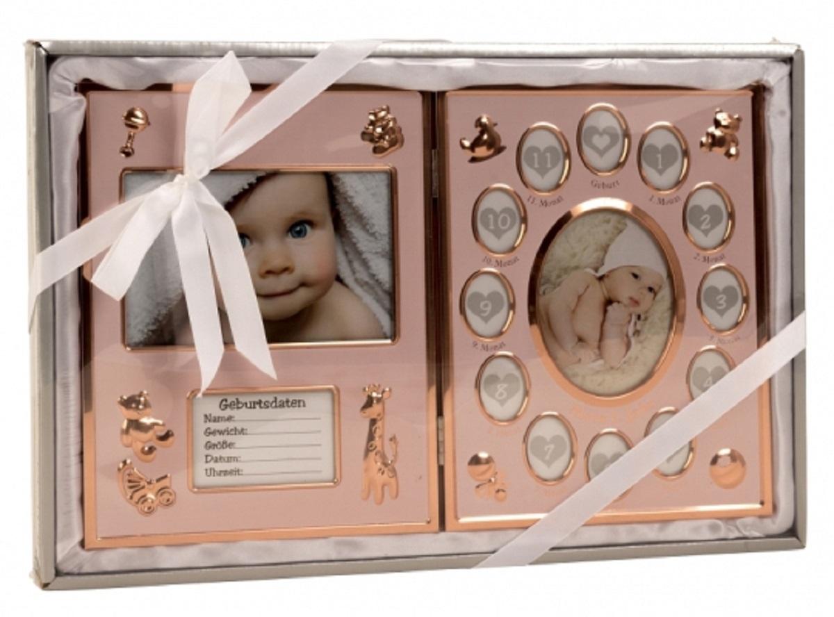 Baby Bilderrahmen bronze \