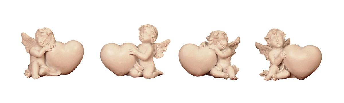 ° 12 x Engel mit Herz Engelfigur