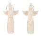 ° 8 Stück Engel Figuren zum Hängen Weiß je ca. 10 cm Engelfigur