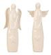 ° 2 Stück Engel Figuren Weiß stehend ca. 19 cm Engelfiguren