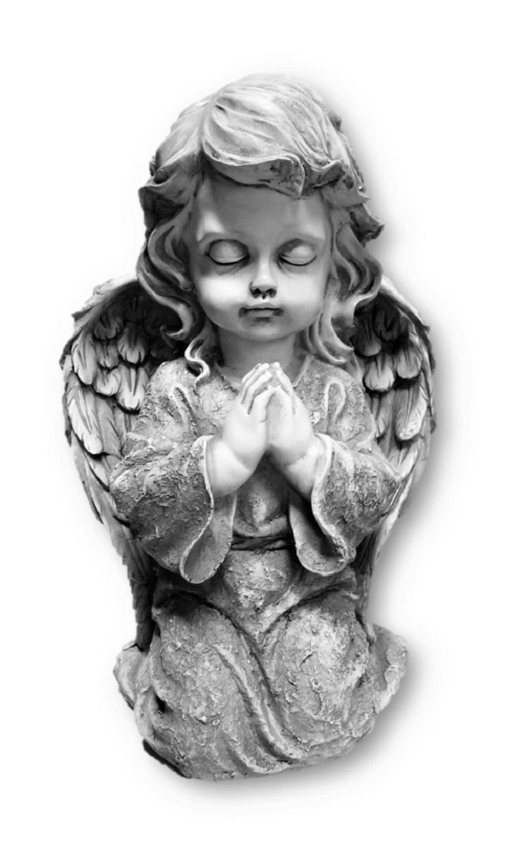 ° Große Engel Figur knieend betend grau ca. 23,5cm Engelfiguren