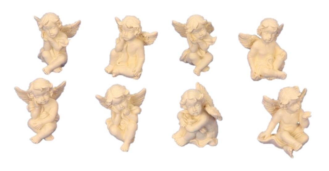 ° 8 verschiedene kleine Engel Figuren je 3cm Engelfigur