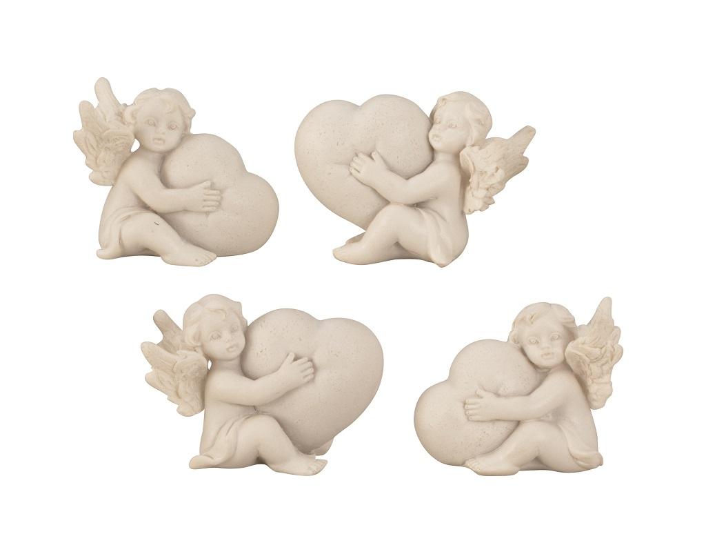 ° 12 Stück Engel Figur je 3 x 4 cm Engelfiguren Hochzeit Geburt Taufe Deko