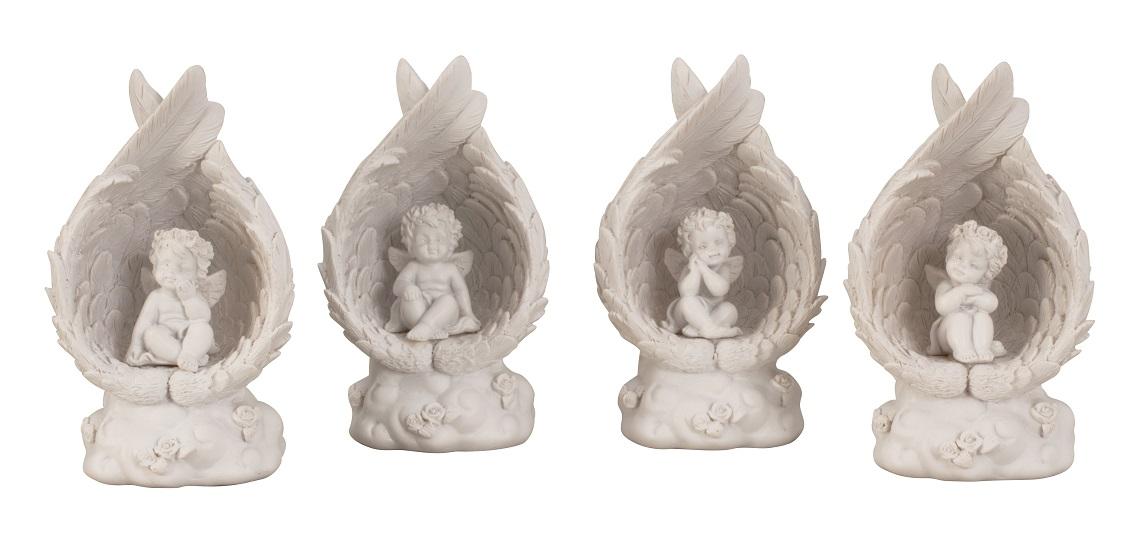 ° 2 Stück Engel Figur je 12 cm Engelfiguren Hochzeit Geburt Taufe Deko