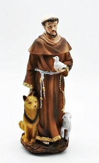 Franciscus von Assisi Figur Heiligenfigur 21 x 8 cm