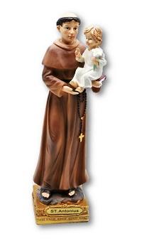 Antonius von Padua Figur Heiligenfigur 22,5 x 7 cm