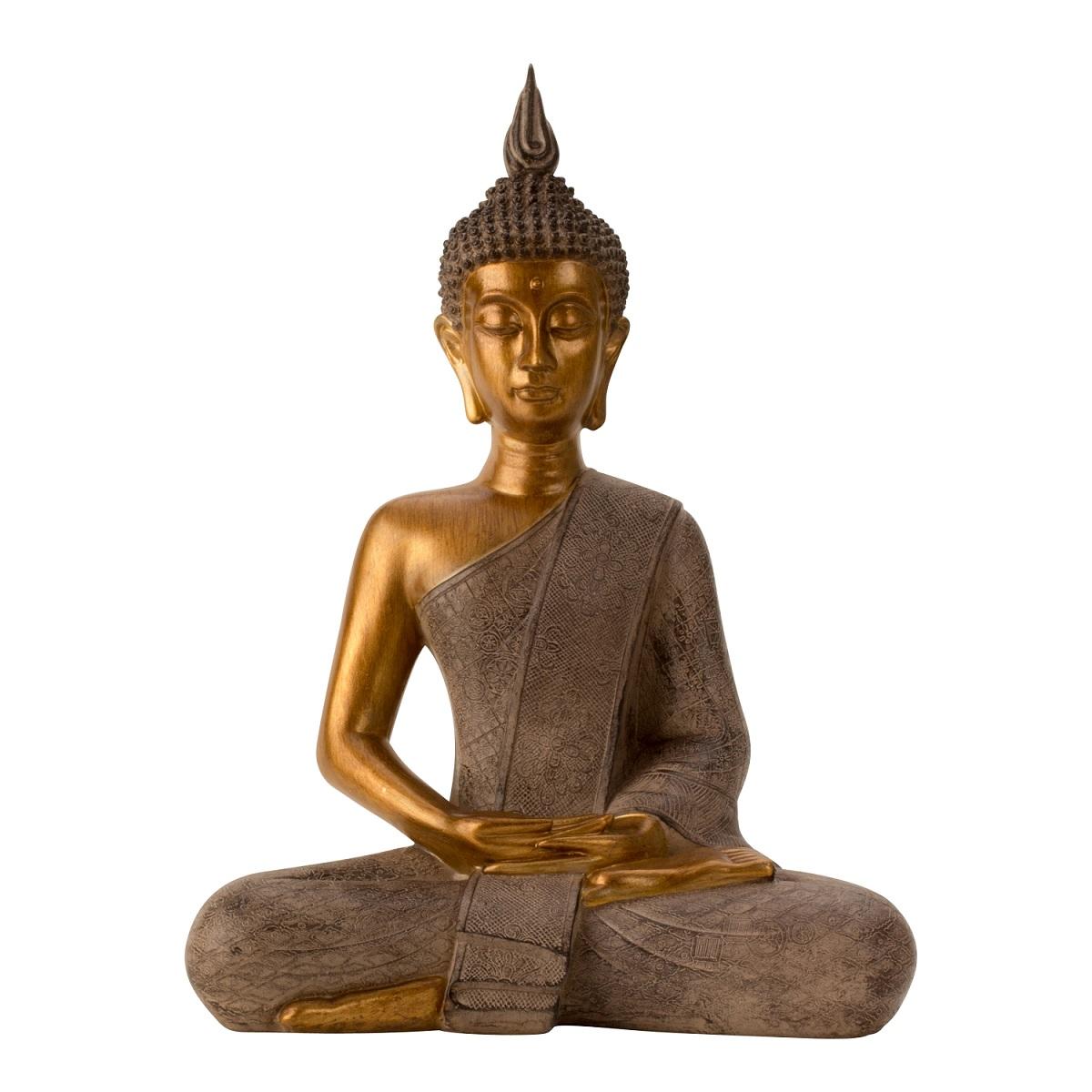 Buddha Figur im Lotussitz