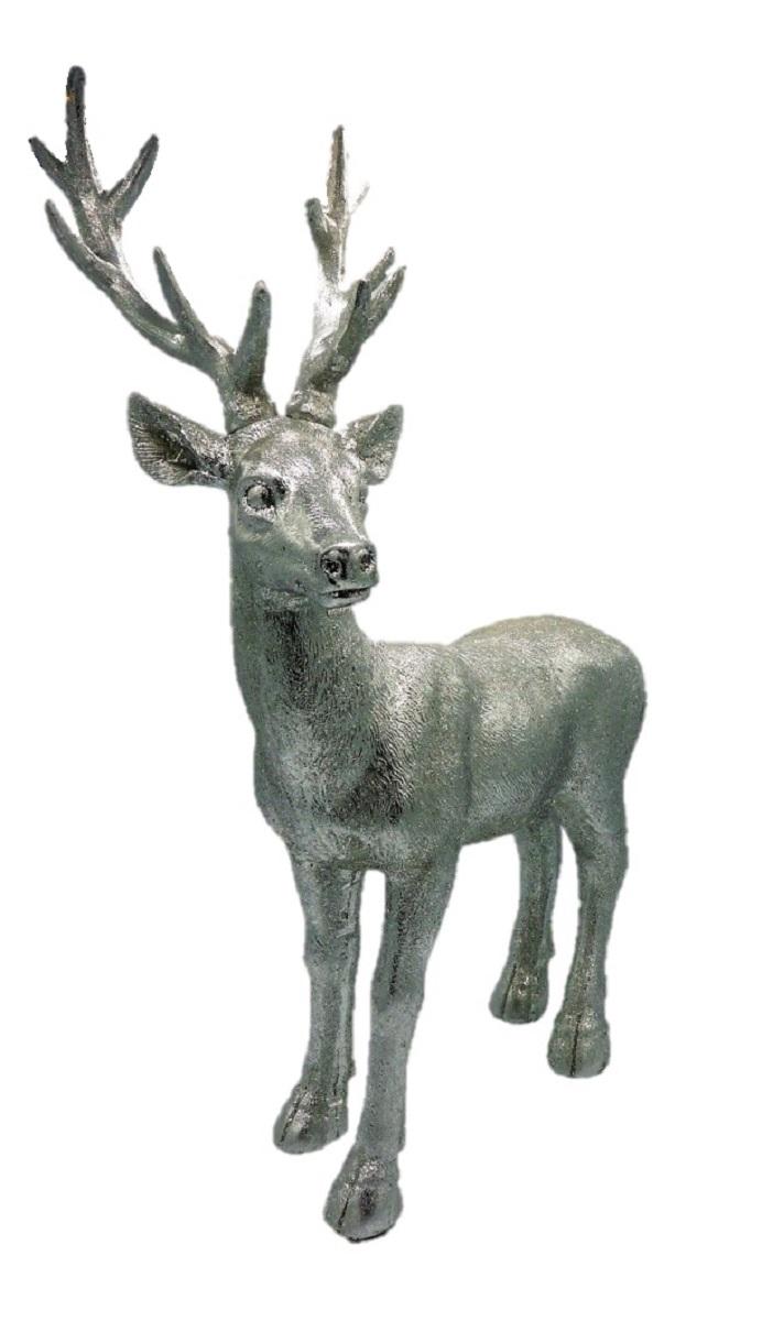 Hirsch Figur Stehend Silber 32 5 Cm X 50 5 Cm X 18 Cm Gro