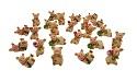 48 Glücksschweine Figuren Glücksbringer Mini Schweinchen Tischdeko