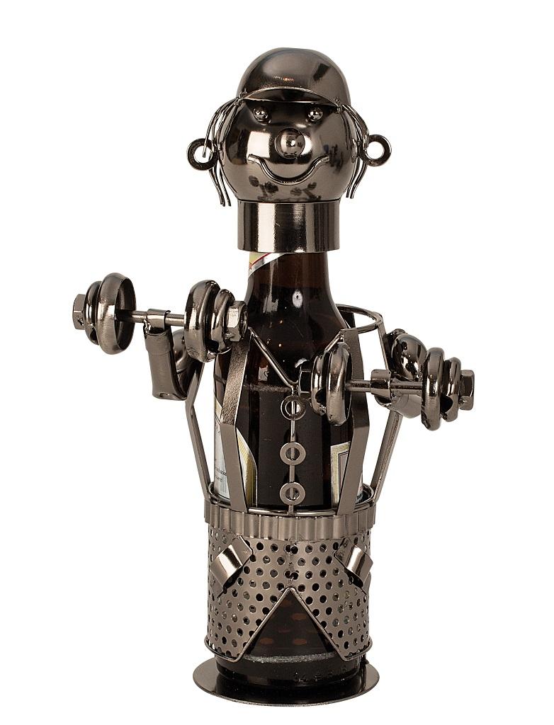 Flaschenhalter Bier aus Metall BODYBUILDER Flaschenständer