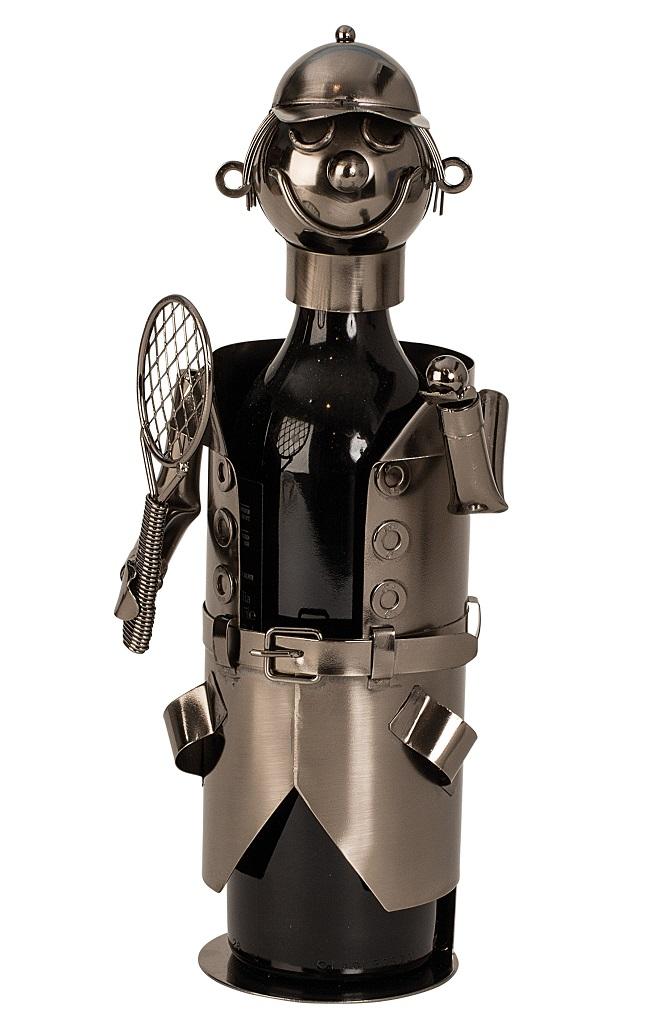 Metall Flaschenhalter Tennisspieler