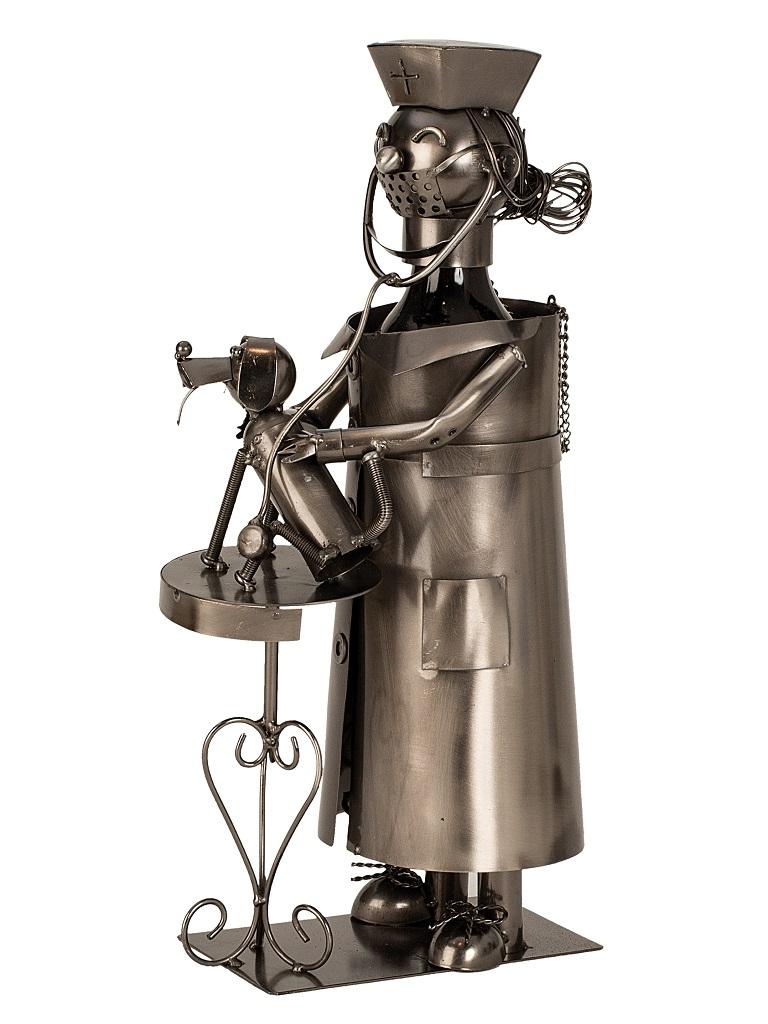 Flaschenhalter Tierarzt 37,5 cm hoch Flaschenständer Weinhalter Metallständer