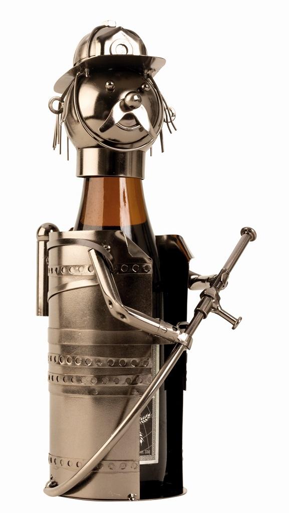 Metall Flaschenhalter Feuerwehrmann
