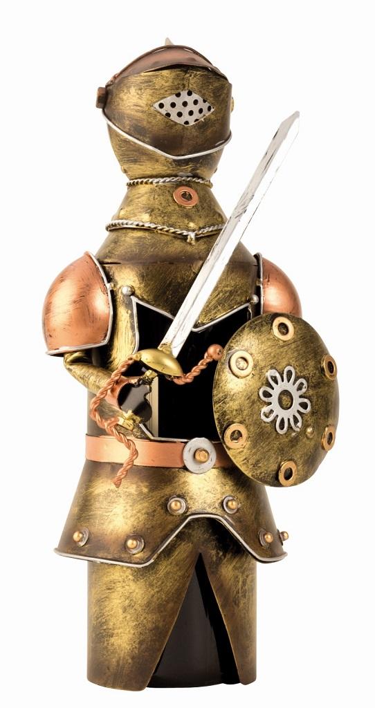 Weinflaschenhalter Ritter aus Metall