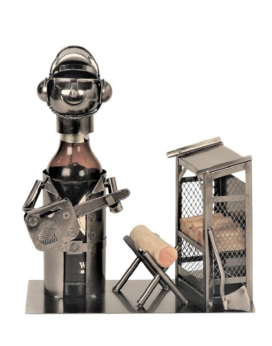 Metall Flaschenhalter Holzfäller