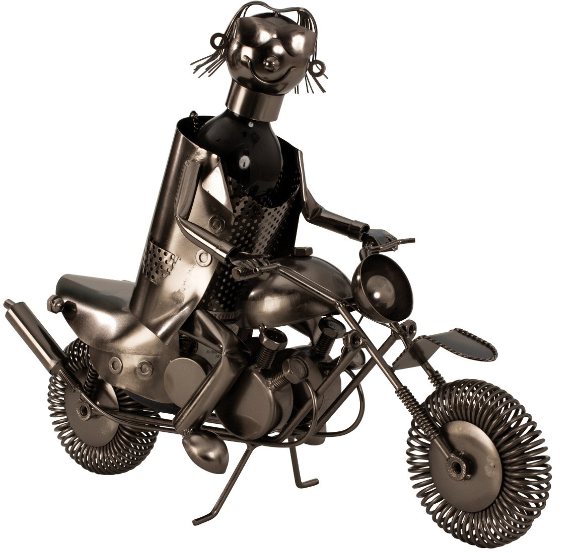 Metall Flaschenhalter Motorrad für Weinflasche