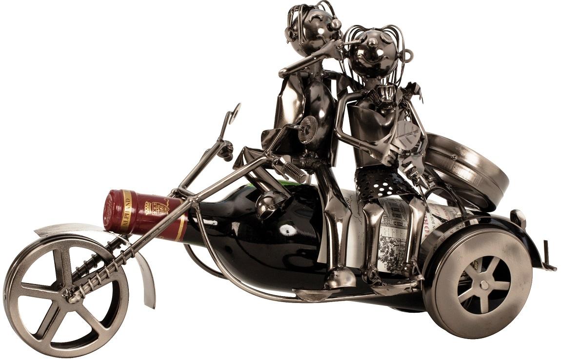 Flaschenhalter Motorrad Paar 37 cm Flaschenständer Weinhalter Metallständer