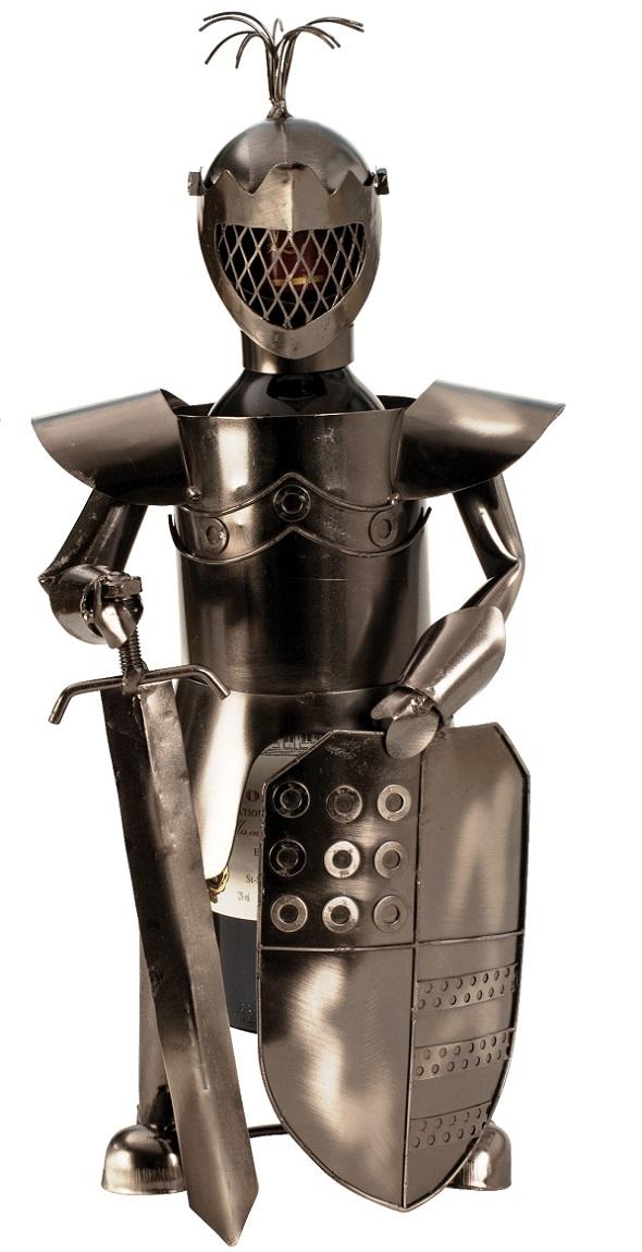 Flaschenhalter Ritter Schwert 39 cm Flaschenständer Weinhalter Metallständer