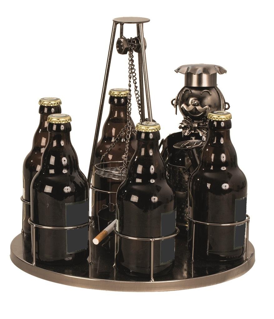 Metall Flaschenhalter Schwenkgrill