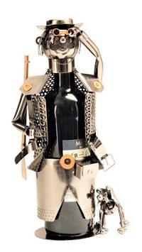 Flaschenhalter aus Metall Jäger Weinhalter Metallständer