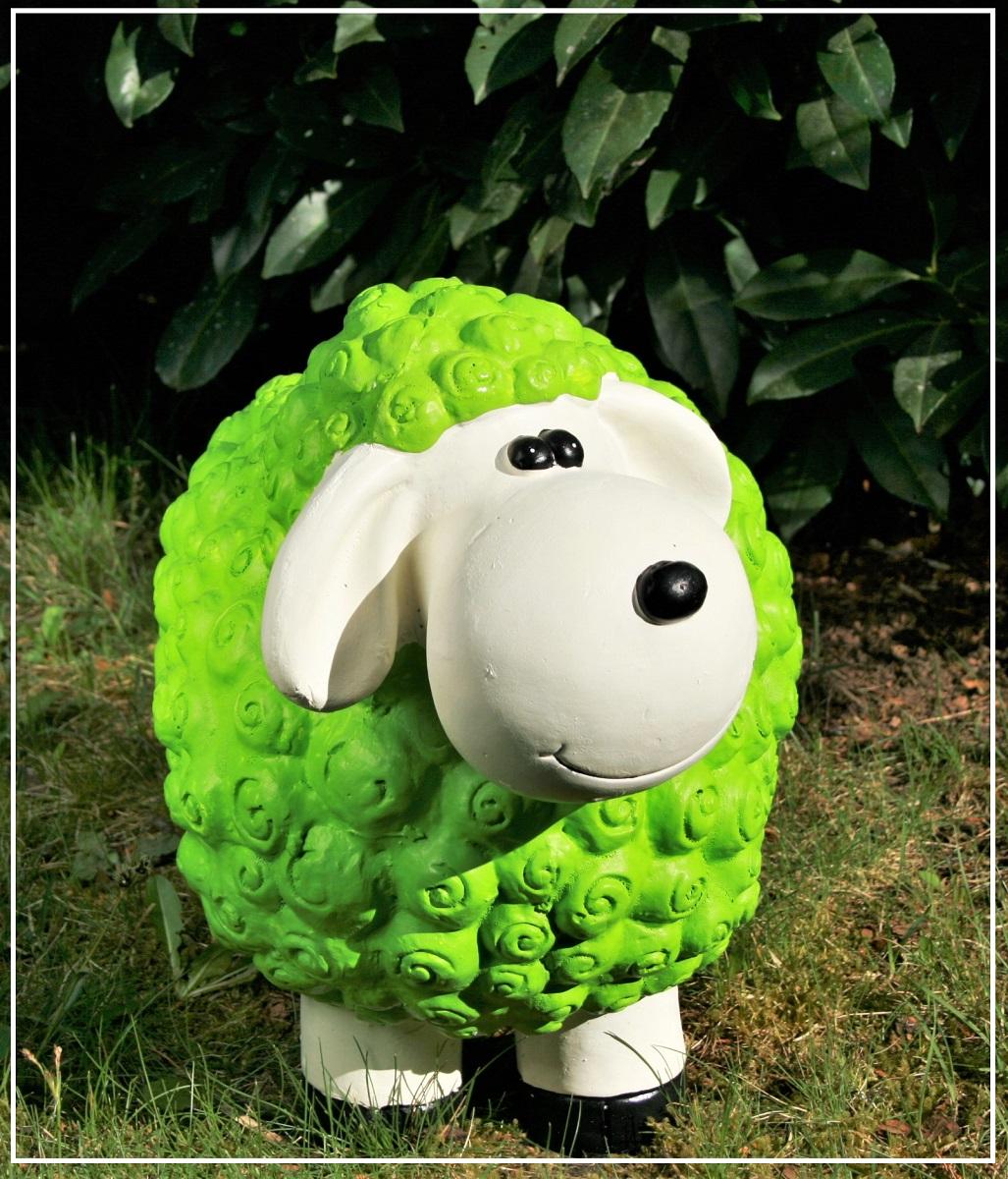 dekofigur schaf susanne grün bunte tier figuren für haus und garten