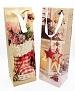 ... 12 x Flaschentüte Geschenktüten Weihnacht Glitzer 12 x 9 x 36 cm