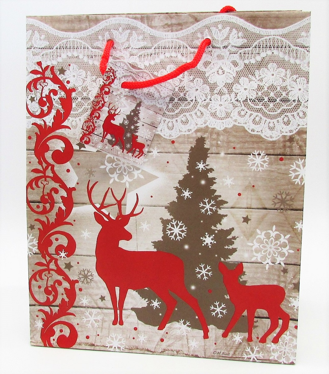 24 geschenkt ten rentier weihnachten tanne 18 x 10 x 23 cm. Black Bedroom Furniture Sets. Home Design Ideas