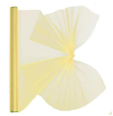 10 Stück Organza Stoff 2m x 40cm Farbe Creme Tischband (1qm=1,62€)
