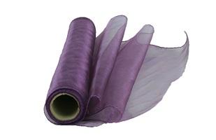 Organza Rolle Lila Violett 10 m x 0,4 m (Preis pro qm = 1,24 €)