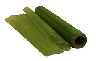 Organza Rolle Grün 10 m x 0,4 m (Preis pro qm = 1,24 €)