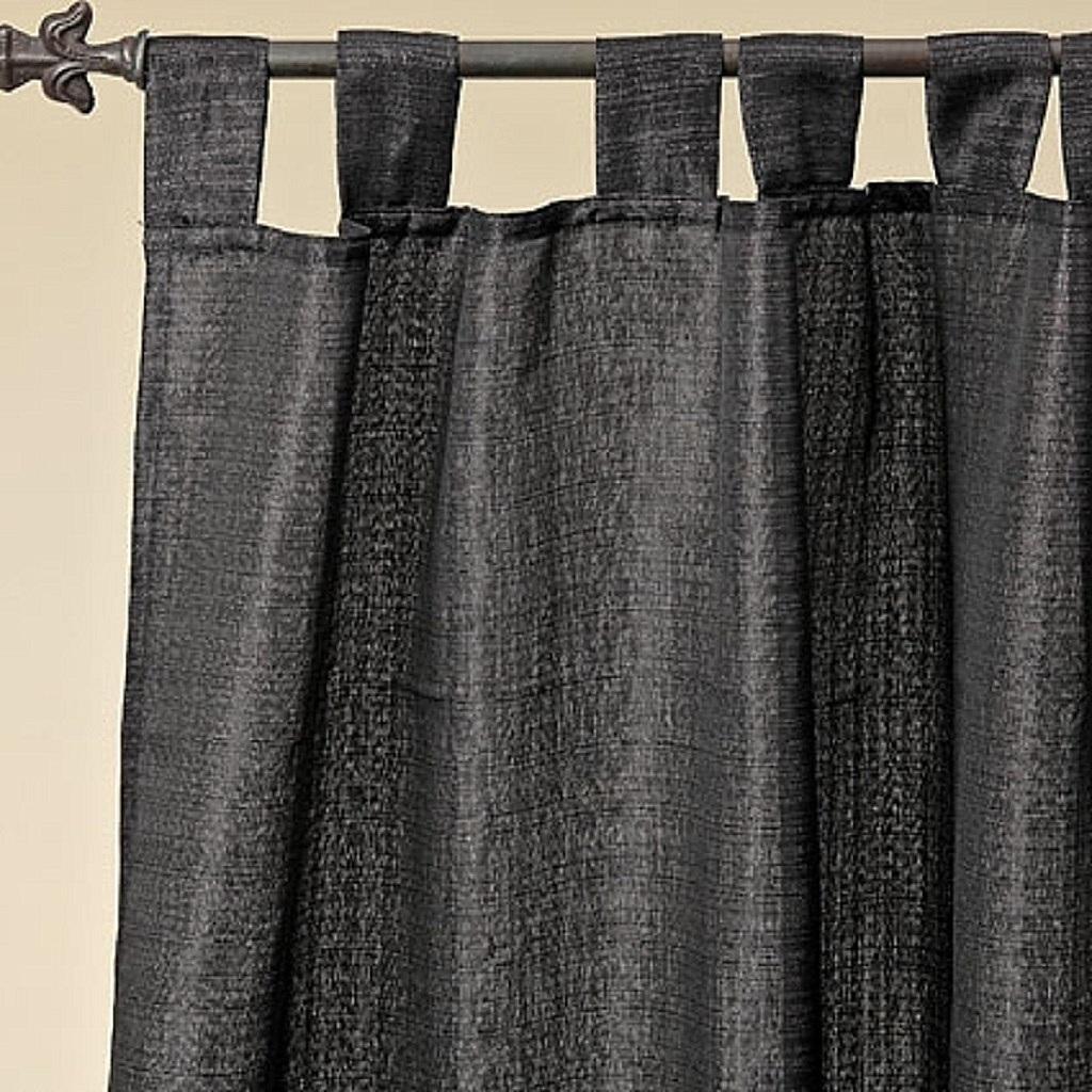 1 Stück Schlaufenschal Vorhang Schwarz glitzer Gardine Schal 250 x 140 cm