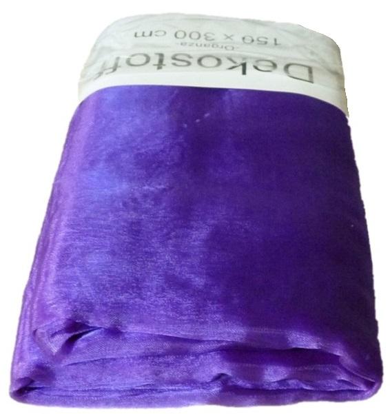 Organza Stoff 3m x 1,50m Farbe Lila Dekostoff (0,88€/qm) !