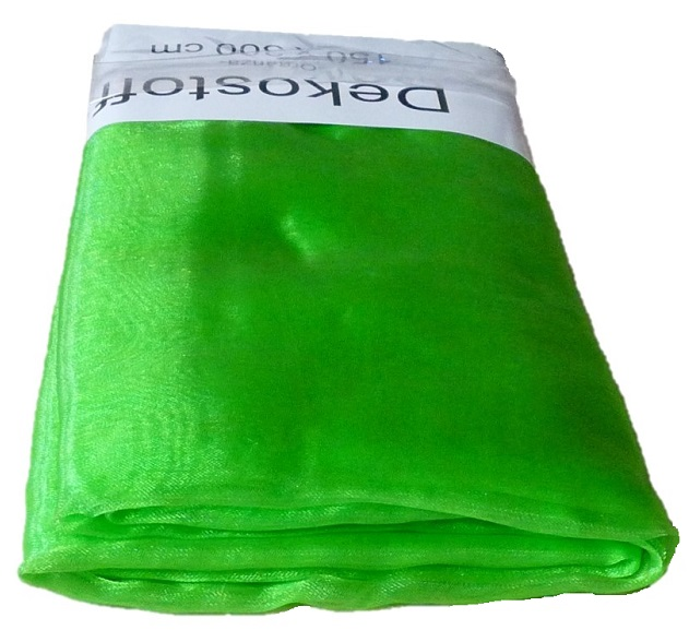Organza Stoff 3m x 1,50m Farbe Grün Dekostoff (0,88€/qm) !