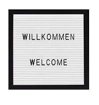 SCHWARZ Letterboard Bilderrahmen mit 143 Buchstaben 25 x 25 cm