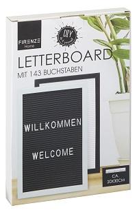 SCHWARZ Letterboard Bilderrahmen mit 143 Buchstaben 20 x 30 cm