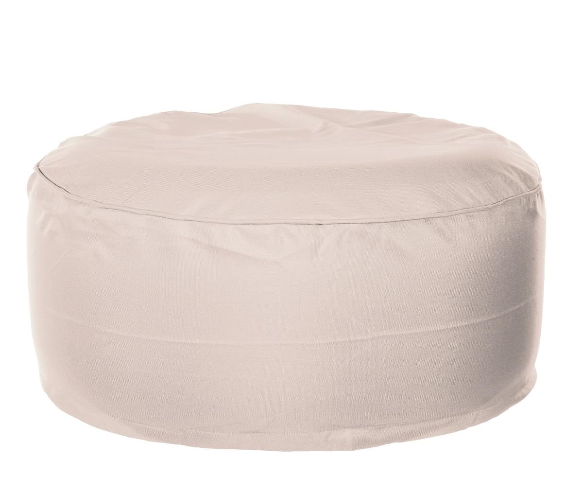 outdoor sitzkissen sand hocker 100 kg sitzsack aufblasbar mit berzug beige 4251004231631 ebay. Black Bedroom Furniture Sets. Home Design Ideas